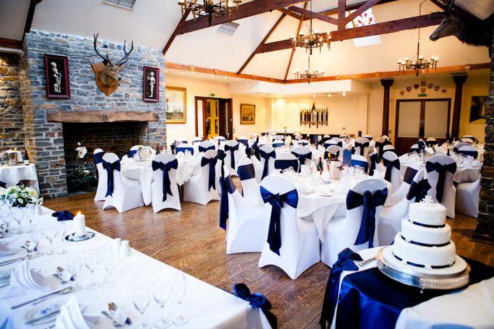 wide room view of wedding breakfast