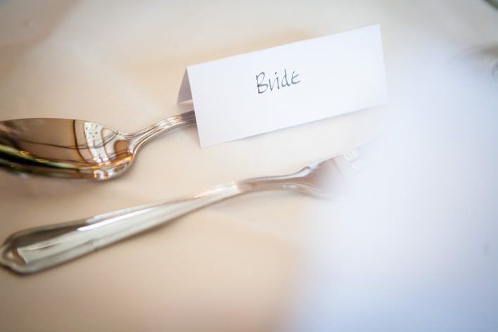 brides place card